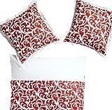 heine home - Baumwolle Renforce Bettwäsche Bettgarnitur 135x200 (179951 rot weiß)