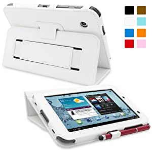 Snugg™ - Étui Pour Samsung Galaxy Tab 2 7.0 - Housse Avec Support Pied Et Une Garantie à Vie (En Cuir Blanc) Pour Samsung Galaxy Tab 2 7.0