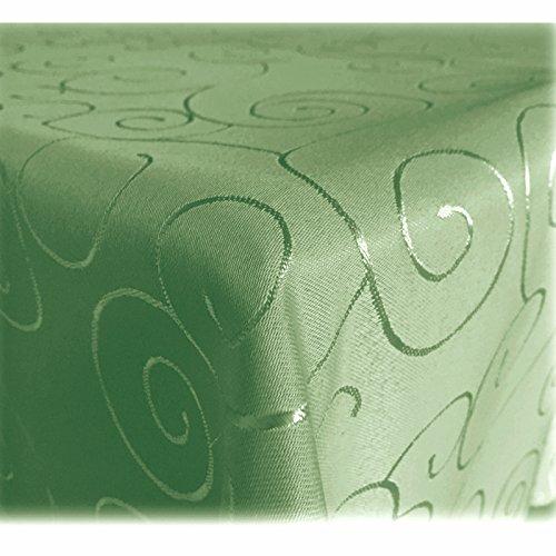 JEMIDI Tischdecke Ornamente Seidenglanz Edel Tisch Decke Tafeldecke 31 Größen und 7 Farben...
