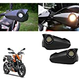 #1: Vheelocityin Bike Hand Guard Motorycle Hand Protector with Bright Light Black For Ktm Duke 200