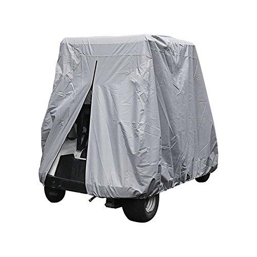 Cleana Arts Golf Cart 2 Passenger Club Auto EZ Go Yamaha wanmei EzGo Golf Cart Cover Gehäuse verlängerter UV-Schutz Wasserdicht Staubdicht widerstandsfähig, 285 cm Länge x 122 cm Breite x Höhe 168 cm.(80L) (Yamaha Golf Cart Gehäuse)