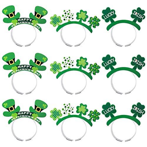 St. Patrick's Day Party Stirnband Hut Dekoration Shamrock Stirnband Kostüm Party Headwear Party Supplies (Grün) ()