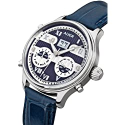 AUER Classic Collection BA-513-BluSBluL Automatic Mens Watch Classic & Simple