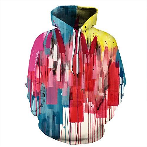 LUOYLYM Langärmelige Mantel Top 3D Farbe Tinte Kunst Digitaldruck Paare Kapuzenpullover Männer Und Frauen Sport Baseball Uniform Qyxh036 - Asiatische Weiße Paare Kostüm