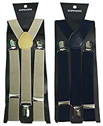 Atyourdoor Y- Back Suspenders for Men(Brownnavybluesus2)