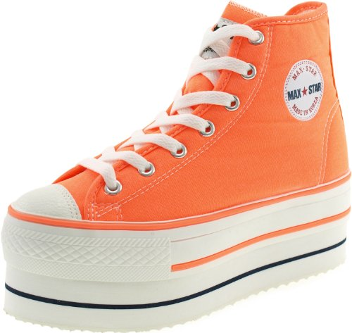 Maxstar  CN9-8H,  Damen Sneaker Low-Tops Neon Orange