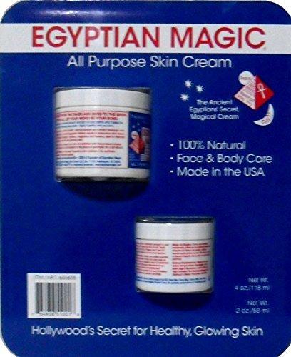 Egyptian Magic All Purpose Skin Cream, 4oz + 2oz Jars by Egyptian Magic by Egyptian Magic (Egyptian Magic Skin Cream)