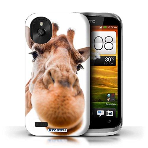 Kobalt® Imprimé Etui / Coque pour HTC Desire X / Chien somnolent conception / Série Animaux comiques Museau de giraffe