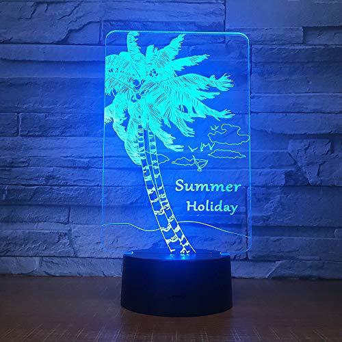 InnoWill Summer Dekoration Geschenk Nachtlicht Kinder LED Lampe 7Colors