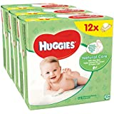Huggies Natural Care Toallitas - 12 Packs (56 toallitas por paquete, total 672 toallitas húmedas)