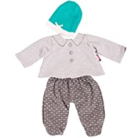 Gotz 3402840 Baby Doll Combo Stylish Spots - Size M - Dolls Clothing / Accessory Set - Suitable For Baby Dolls Size M (42 - 46 cm)