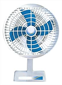 VARSHINE Plastic Ashoka Laurels 2100 RPM Mini Table Fan (White)