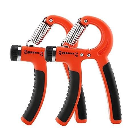 Vicloon Lot de 2 Réglable Hand Grip Exerciseur à Main, Poignée de Main,Poignet et Avant-Bras Exerciseur, Renforcement à Poignée, 10-40 kg