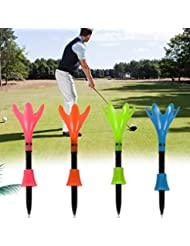 HATCHMATIC 3pcs tee de Golf en Forma de Flor tee de Golf de 83 mm Color al Azar Accesorios de Golf