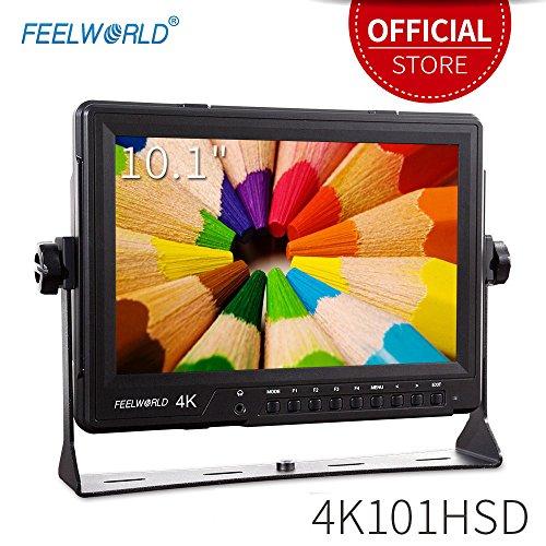 """Feelworld 4K101HSD Kamera Feld Monitor Pro Broadcast 10.1"""" 4K Ultra UHD 2560×1600 LCD IPS Bildschirm 16:10 mit HDMI SDI für Camera Hochzeit Sport Konferenz"""