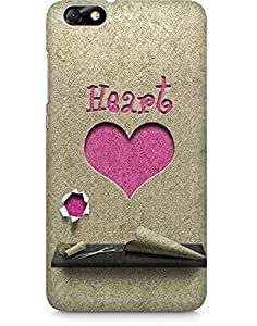 Amez designer printed 3d premium high quality back case cover for Huawei Honor 4X (Heart Paper Cutting)