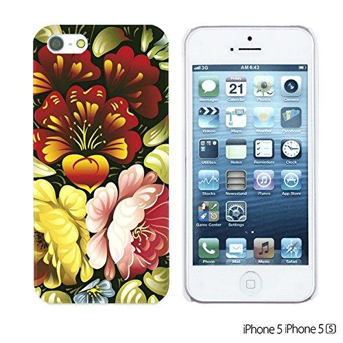 OBiDi - Flower Pattern Hardback Case / Housse pour Apple iPhone SE / Apple iPhone 5S / 5 - Red Rose With Skull Folk Art Floral