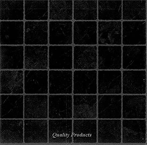 44 x Vinyl Floor Tiles - Self Adhesive - Kitchen / Bathroom Sticky - Brand New - Black Small Tile