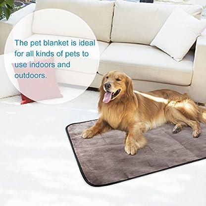 UEETEK Waterproof Pet Blanket Collapsible Plush Pet Mat for Dog Puppy Cat Indoor Outdoor Lawn Use,100*70CM 7