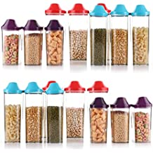Slings Easy Flow Grocery Storage Container 18 Pcs Combo (750 ml x 6),(1100 ml x 6),(1700 ml x 6)