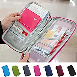 DFS's MULTI-FUCTIONAL FASHION TICKET PASSPORT CREDIT CARD ID DOCUMENT ORGANISER HOLDER BAG PURSE TRAVEL WALLET POUCH CASE COVER (Assorted colors)