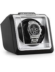 Klarstein 8PT1S Watch winders Estuche vitrina movimiento para 1 reloj automático (Motor silencioso, funcionamiento individual, 2 modos) Negro