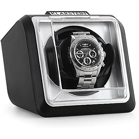Klarstein 8PT1S caja para relojes (compacto, motor silencioso, amplia tapa transparente, 2 programas de rotación) -