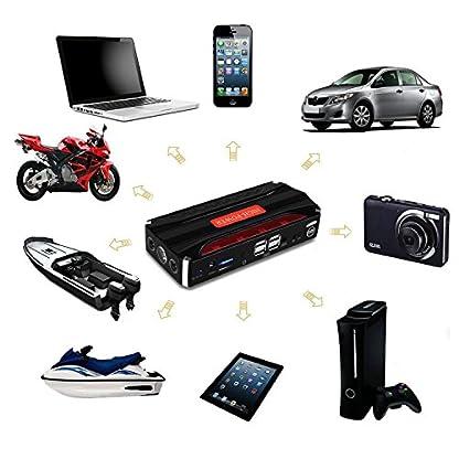 51wwSqpC5HL. SS416  - Jump Starter Batería Portátil de Emergencia para coche, YOKKAO Arrancador de Emergencia para coche 16800mAh 600, Kit de Arranque para coche con USB, Luz LED, Cargador Power Bank para Coche, Moto, Laptop, Smartphone, etc.