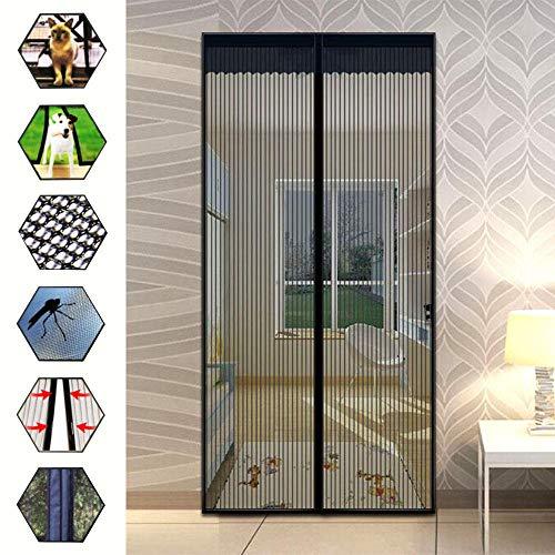 Y·z Fliegengitter Tür Insektenschutz 100X210Cm Türvorhang Moskitonetz Fenster Magnetische Freisprecheinrichtung Anti Moskito Bug Fly Instant Mesh Screen Einfache Installation -