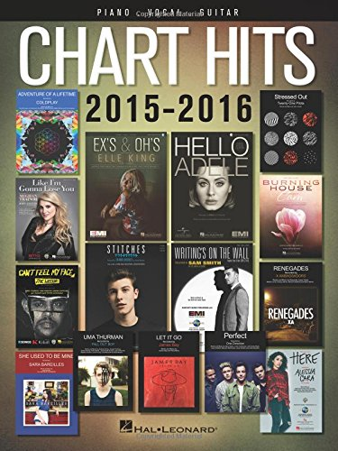 Mobile Chart (Chart Hits Of 2015-2016 (Piano Vocal Guitar Songbook): Songbook für Klavier, Gesang, Gitarre (Chart Hits of Piano Vocal Guitar))