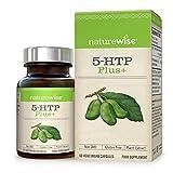 5-HTP Max Strength 200 mg de NatureWise - L'extrait naturel de griffonia favorise un sommeil sain, l'humeur et la suppression de l'appétit - libération du temps, sans OGM, sans gluten - 60 comptage