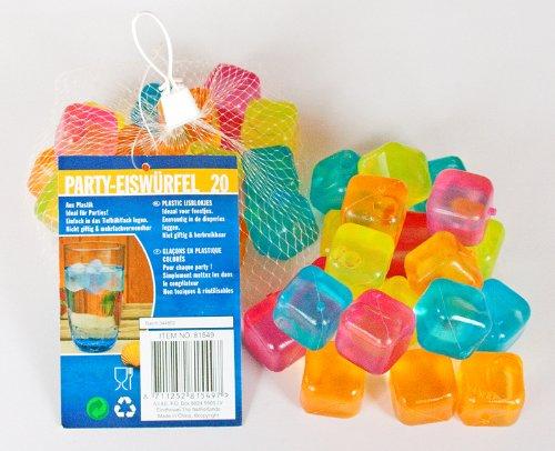 Kunststoff-würfel (80 Eiswürfel bunt Party Kunststoff wiederverwendbar Eis Cube Würfel)
