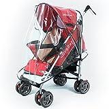 Tinksky Universale passeggino passeggino carrozzina passeggino copertina antipioggia trasparente pioggia ombra immagine