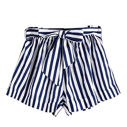 Women Shorts Pants,Internet Women Summer Stripe Loose Hot Pants Lady Summer Beach Shorts Trousers