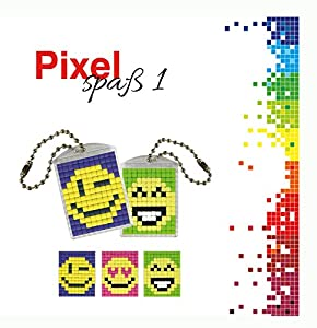 Pracht Creatives Hobby P90020-00505 - Juego de Manualidades para Manualidades de píxeles, para 2 medallones, Llavero, para niños, niños y niñas, como pequeño Regalo, para cumpleaños Infantiles
