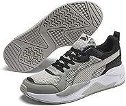 PUMA X-Ray Glitch Gray Violet-Limestone-Puma Moda Ayakkabılar Unisex Yetişkin