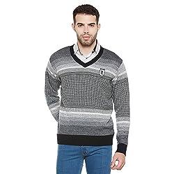 Duke Men Casual Sweater 1968078031 Black Coloured Small