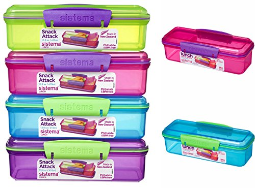 6x-sistema-410ml-snack-attack-box-lunchbox-pack-lunch-box-assorted-colours