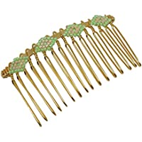 Tessitura pettine diamante perline Giappone verde luminoso beige luminoso oro capelli doni personalizzati Natale amici compleanno matrimonio cerimonia di nozze ospiti festa della madre coppie