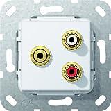 Gira 563403 Cinch Audio Miniklinke Gender Changer Einsatz, reinweiß