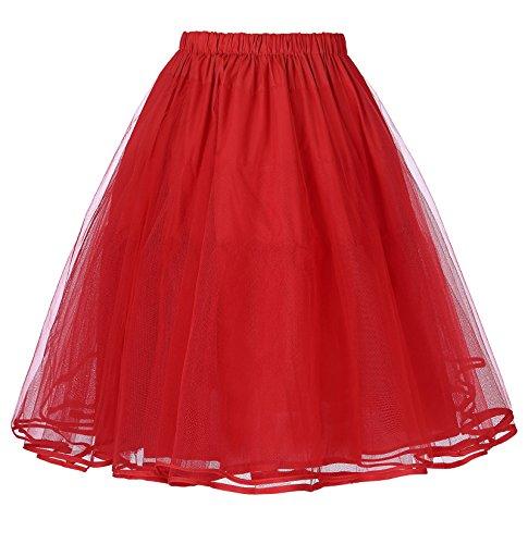 Belle Poque 50s Petticoat Retro Vintage Rock Damen Unterrock crinoline petticoat für Rockabilly Kleid BP229-3