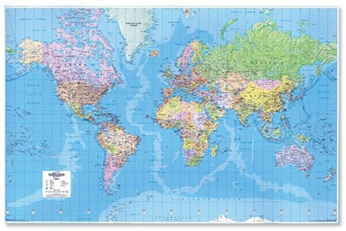 Map Marketing Giant World - Mapa político mundo