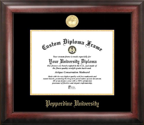 Campus Images CA944GED Pepperdine University Diplom-Bilderrahmen, geprägt, 21,6 x 27,9 cm, goldfarben Pepperdine University