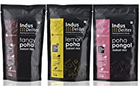 Indus Delites Poha Lovers Instant Mix Combo - Lemon Poha, Tangy Poha & Poha Pongal