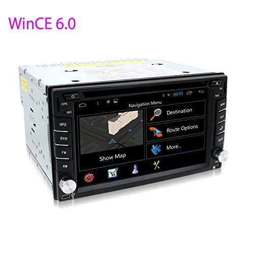 E-TONG WinCe 6.0 Double Din Car Stereo In dash DVD Player Auto Radio Support GPS Navigation Bluetooth 3G Wifi OBD Touch Screen Steering Wheel Control For - Radio Car Kit Touchscreen