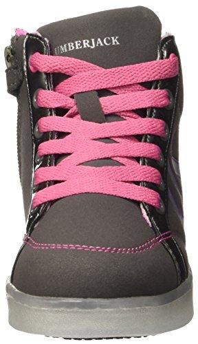 Lumberjack Glow, Baskets Hautes Fille Grigio (M0380 Grey/Pink)