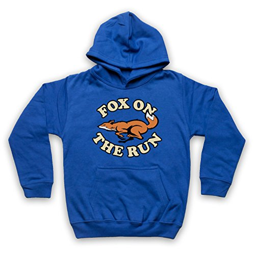 Inspiriert durch Sweet Fox On The Run Unofficial Kinder Kapuzensweater, Blau, 1-2 Jahren