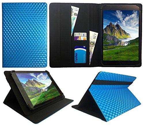 HKC One Thor M104Y 10.1 inch Tablet Blau 3D Cube Universal Wallet Schutzhülle Folio ( 10 - 11 zoll ) von Sweet Tech