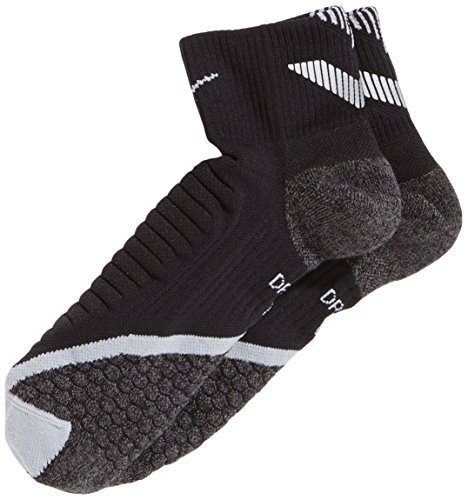 NIKE Erwachsene Socken Elite Running Cushion, Black/Wolf Grey, 6-7.5, SX4850-010