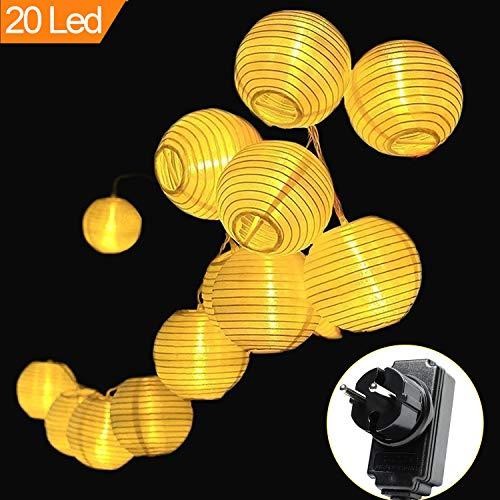 Moveonstep luci lanterne 20 led catena luminosa lampade 5m bianco caldo decorazione per giardino, patio, cortile, casa, albero di natale, feste